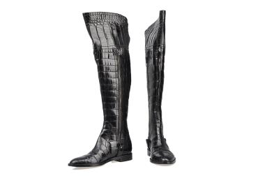 11540-1--sergio-rossi-black-crocodile-over-the-knee-flat-boots-sz-37